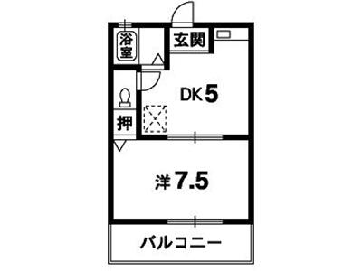 愛日ハイツ中島田間取り画像