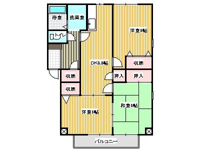 フォブールタウン南田宮 間取り画像