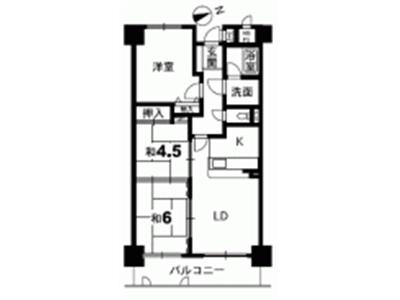 ライオンズマンション徳島富田橋間取り画像